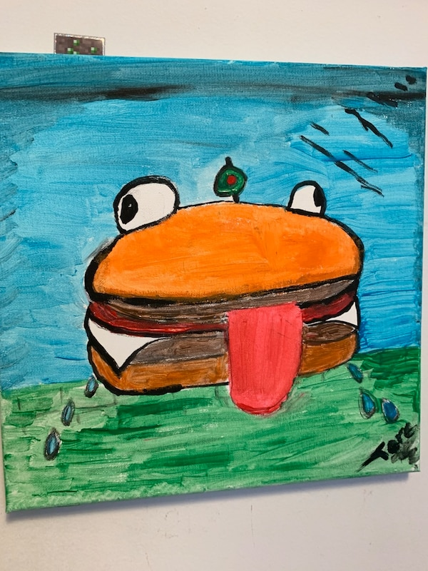 Fortnite Durrr Burger Painting And Some Other Hand Painted Paintings