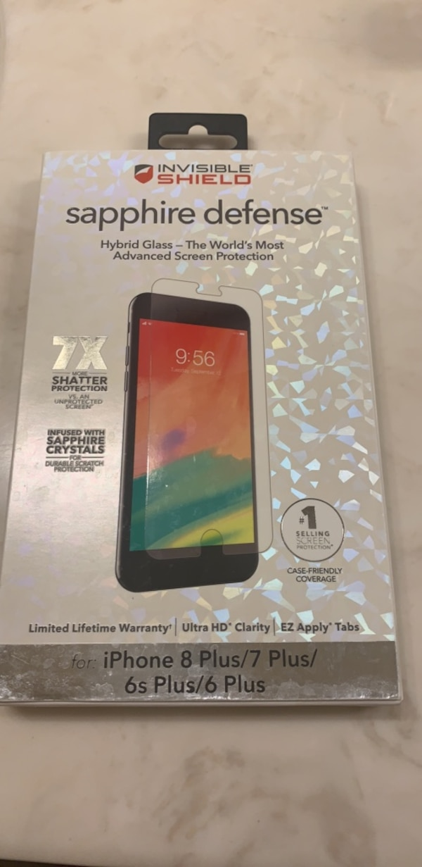 finest selection bcdc3 ee317 iPhone 6,7,8 Sapphire Defense Hybrid Glass screen protector. Lifetime  warranty and free replacements if it breaks or cracks.