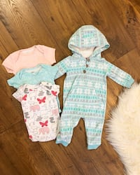 Warm Fleece Baby Girl Outfit And Onesies Mississauga, L5N