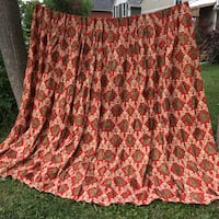 Massive midcentury vintage fibreglass curtains NEW OLD STOCK  Grimsby, L3M 2A9
