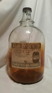 A&W Root Beer Rare One Gallon Jug w/ Label Fresno, 93702