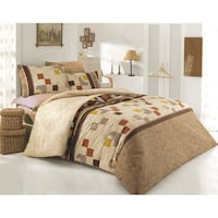 brown and white bed sheet set London