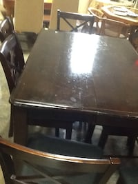 black wooden table with chairs Rockville, 20850