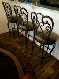 black metal framed brown padded chairs Porterville, 93257