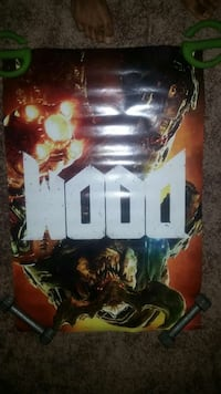 Doom double sided poster Newport News