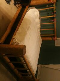 brown wooden bed frame with mattress Chilliwack, V2P 8B2