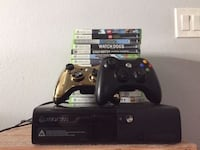 Xbox 360 console,2 controllers and games Buena Park