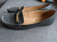 Naturalizer Black Leather Loafers Calgary