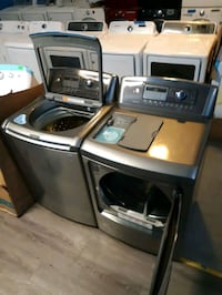 LG TOP LOAD WASHER AND DRYER SET WORKING PERFECTLY