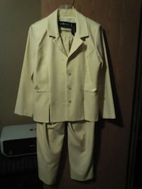 Pastel yellow women's suit sz 4 p