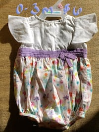 toddler's white and pink floral dress Clear Brook, 22624