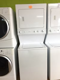 "GE white stacked washer and dryer unit 27"" Woodbridge, 22191"