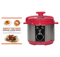 New Wolfgang Puck 5-Quart Pressure Cooker with Cookbook (Red) Mississauga