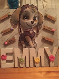Children's personalized hand made wall decor with their favorite character . Meriden, 06450