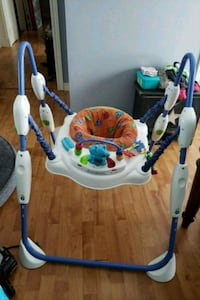 baby's white and blue jumperoo Elmvale, L0L 1P0
