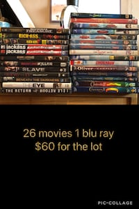 assorted DVD movie case lot Vancouver, V5M 1J5