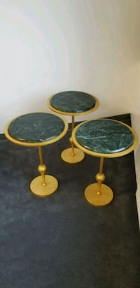 3 marble top side tables Queens, 11415
