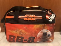 Brand new Star Wars BB-8 Black and orange duffel bag with tag Concord, 94518