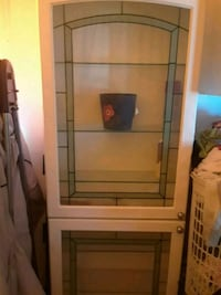 brown wooden framed glass cabinet El Paso, 79904
