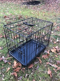Black metal folding dog crate Upper Marlboro, 20762