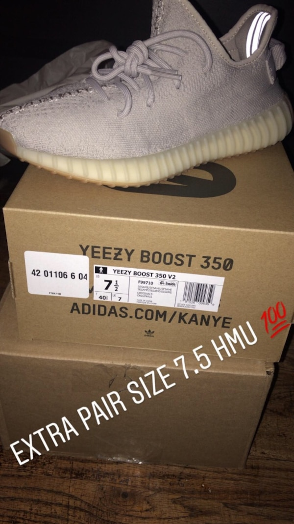 357ad7d326788 Used Yeezy 350 Sesame size 7.5 for sale in Rahway - letgo