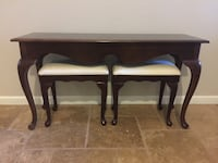 Sofa Table / Entry Table and stools Chandler, 85286