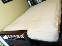 white mattress with black wooden bed frame Los Angeles, 90033