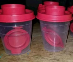 Tupperware mini salt and pepper shakers
