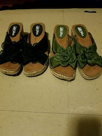 two pairs of brown and black sandals Nettleton, 38858