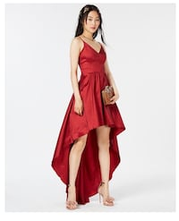 Macy red high low dress Vancouver, 98682