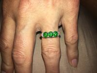 Brand New! Russian Diopside Sterling Silver Trilogy Ring (Size 7.0) TGW 0.79 cts. Santa Cruz, 95065