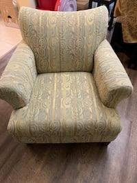 gray and white floral sofa chair Winter Garden, 34787