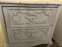 French Provincial Nightstands Pair Shabby Chic 90024