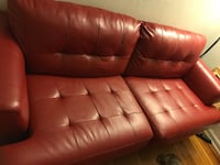 red leather 2-seat sofa New Milford, 07646
