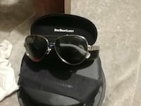 black Polo Ralph Lauren aviator sunglasses with stainless steel frame and case London, N6C