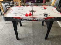 White red and black Power Play Air hockey table Copperas Cove, 76522
