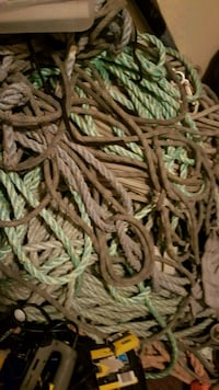 Ropes, mostly safety line or poly line. Long