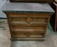 Slate top night stand  Chester, 10918