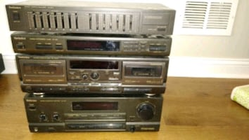 Technics amplifier tuner equalizer cassette deck