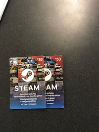 $50 Steam gift cards