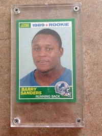 1989 rookie barry sanders trading card Clayton, 27527