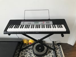 Keyboard with stand moving sale
