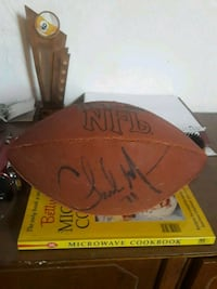 Charles Mann Washington autographed football Washington, 20002