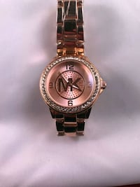 round gold-colored analog watch with link bracelet San Diego, 92113