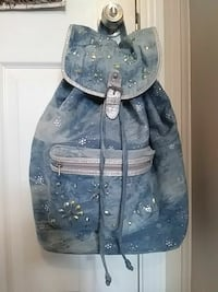 blue and gray floral backpack Carrolltown, 15722
