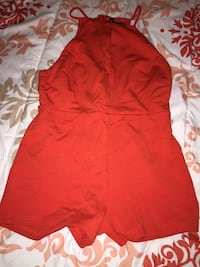 Orange shirt romper $15 small Denver, 80204