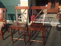 two brown wooden armless chairs Torrington, 06790