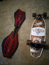 Black & Red Ripstick, Texas Long Horns Longboard Houston, 77077