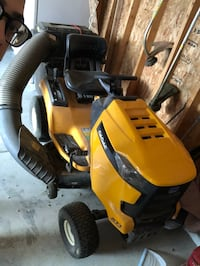 yellow and black ride-on mower 616 mi
