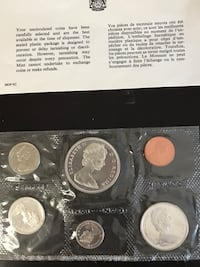 1966 uncirculated coin collection Pickering, L1V 3K1